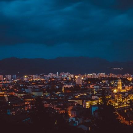 View of Split at Night