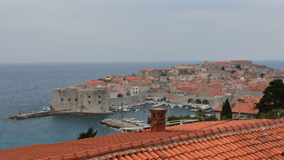 The view from our apartment in Ploce Dubrovnik