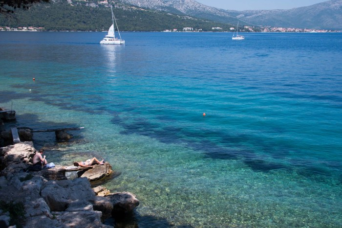 The blue waters of the Adriatic