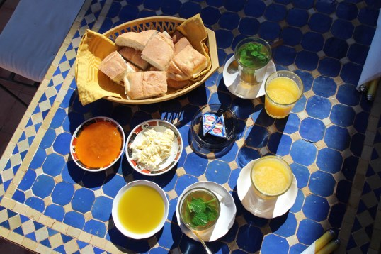 A typical Moroccan Breakfast