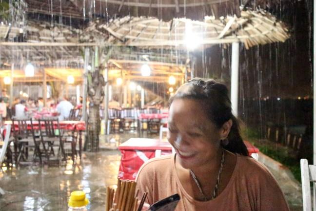 Rainy Night in Ang Bang Beach