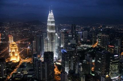 Night view from Menara / KL Tower