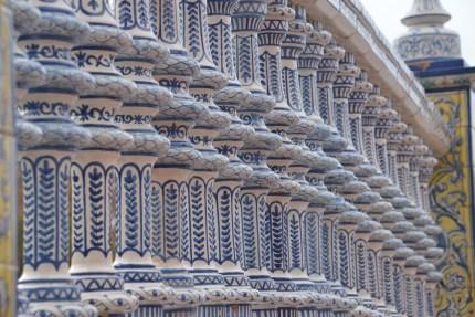 Beautiful tile work on one of the many bridges