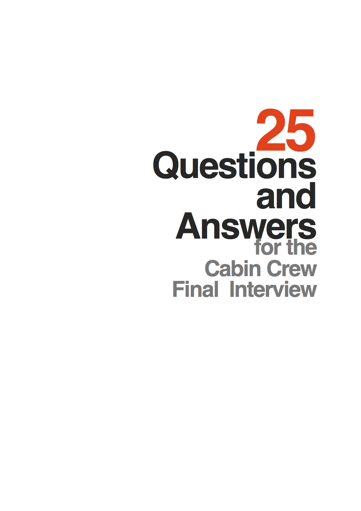 25 Questions and Answers for the Cabin Crew Interview