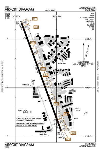 KADS AIRPORT DIAGRAM (APD) FlightAware
