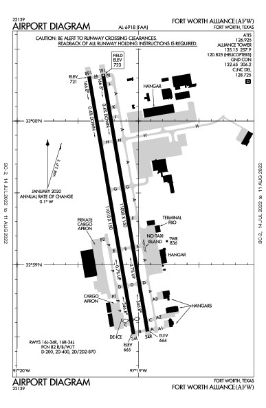 KAFW AIRPORT DIAGRAM (APD) FlightAware