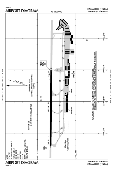 KCMA AIRPORT DIAGRAM (APD) FlightAware