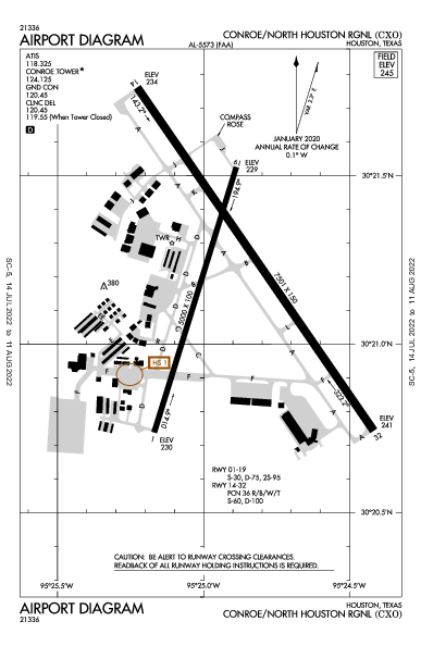 KCXO AIRPORT DIAGRAM (APD) FlightAware