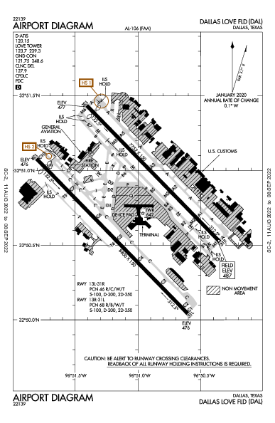 KDAL AIRPORT DIAGRAM (APD) FlightAware