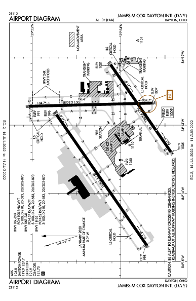 KDAY AIRPORT DIAGRAM (APD) FlightAware