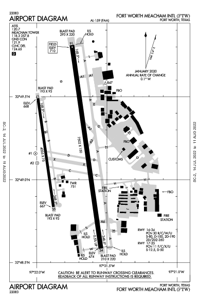 KFTW AIRPORT DIAGRAM (APD) FlightAware