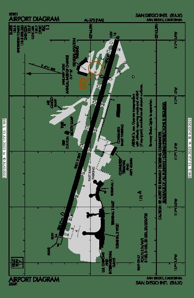 San Diego Intl Airport Map & Diagram (San Diego, CA) [KSAN