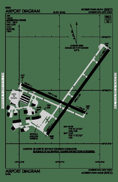 morristown airport diagram