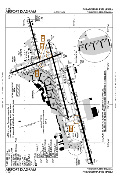 KPHL AIRPORT DIAGRAM (APD) FlightAware