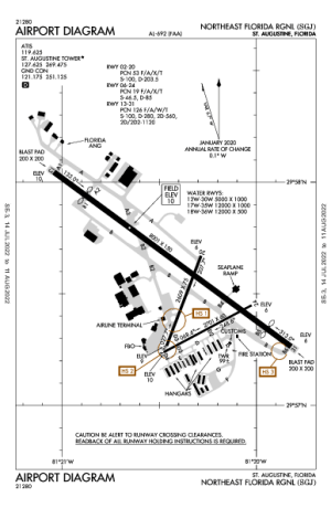 KSGJ AIRPORT DIAGRAM (APD) FlightAware