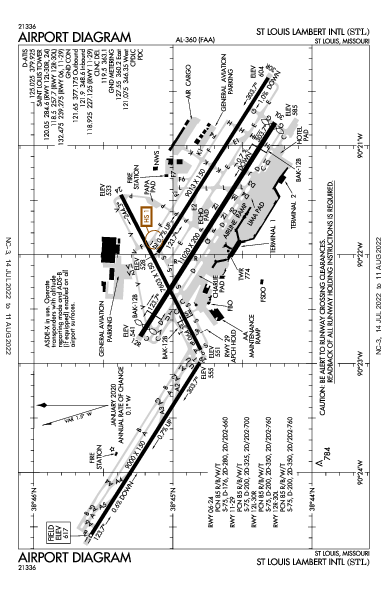 KSTL AIRPORT DIAGRAM (APD) FlightAware