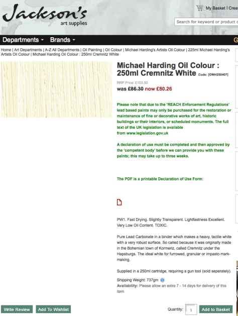 Michael Harding Oil Colour