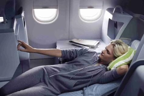 Finnair business woman resting 01 Low