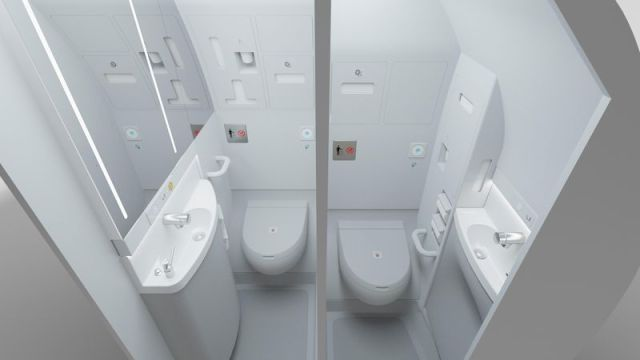Lavatories SpaceFlex v2 Cabin Option by Airbs and Zodiac Aerospace/Airbus
