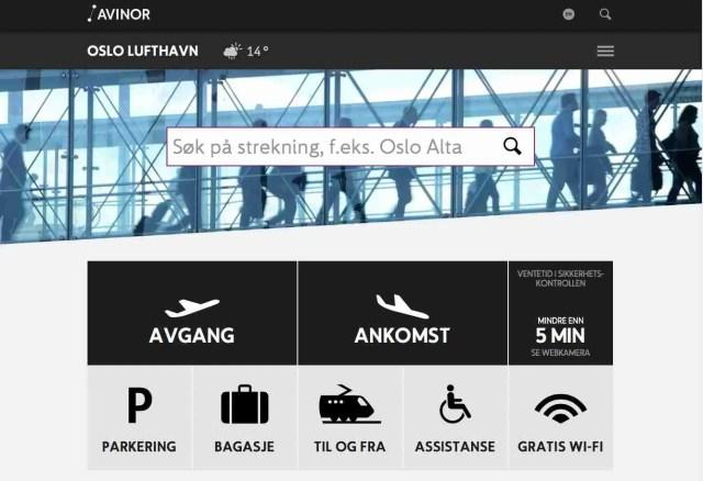 Oslo Airport Website/Avinor