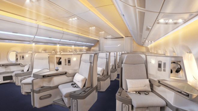 Finnair A350 Business Class Cabin rendering/Finnair