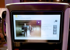 Singapore Airlines new Premium Economy, IFE features the largest screen it its class