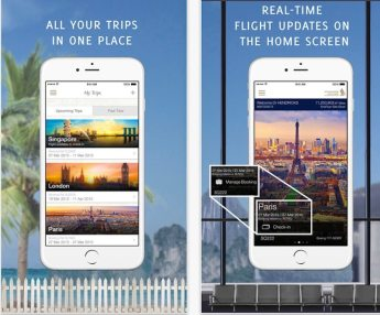 The airline redesigned all its mobile apps at the same time as it introduced its new Apple Watch app.