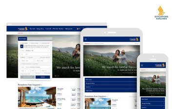 The new Singapore Airlines sites have a sparkling UX on all devices.