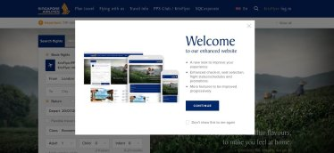 The new Singapore Airlines sites are designed to be mobile-friendly.