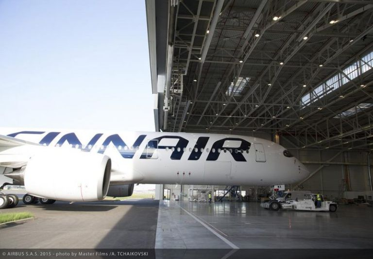 Finnair's new A350XWB rolls out in Toulouse, Source: Airbus