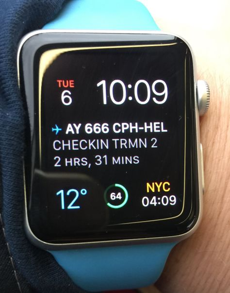 Apple Watch, App In the Air, Complications IMG_0624