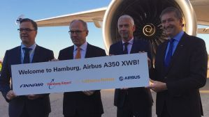 The Finnair A350XWB Welcomed by Hamburg Airport, Airbus and Lufthansa Technik © FCMedia, 2015