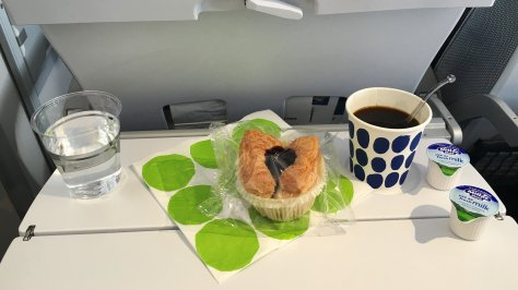 Finnair brings Marimekko design to service items, even in the Economy cabin./FCMedia