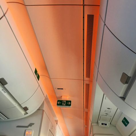 Finnair A350 Warmth of Asia light show./FCMedia