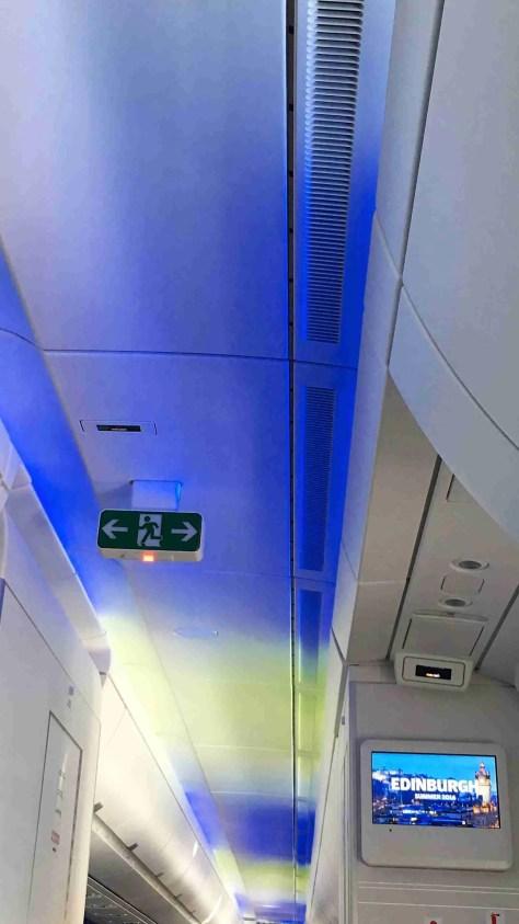 Finnair A350 Aurora Borealis light show./FCMedia