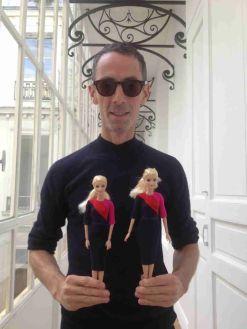 Barbie in New Uniforms with Designer Martin Grant