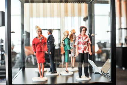 Collection of Qantas Crew Uniforms Over the Decades as Created by Former Crew Member John Willmott-Potts/Qantas