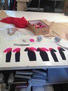 Qantas New Barbie Miniature Uniforms Come Together at the Workshop of Designer Martin Grant