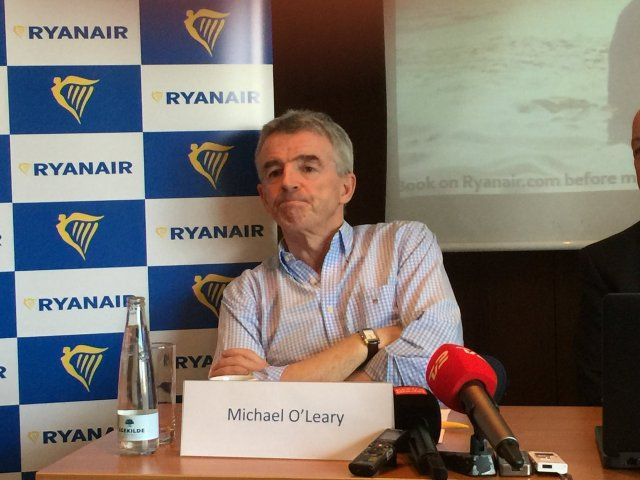 Michael O'Leary Speaks to Press in Copenhagen Feb, 2016/FCMedia