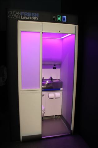 Boeing Clean Cabin--Fresh Lavatory, Crystal Cabin Award Finalist, 2016. Source: Boeing