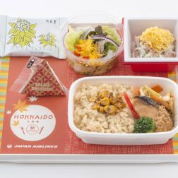 JAL new Hokkaido Economy Meals, Grilled Salmon with Miso Sauce (Ishkari)