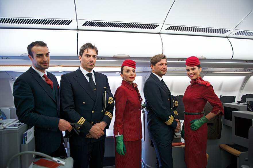 Alitalia Crew sporting new uniforms. Source: Alitalia