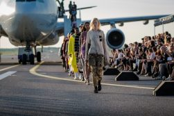 "MATCH MADE IN HEL Group Fashion show ""THE RUNWAY"" in Helsinki Airport."