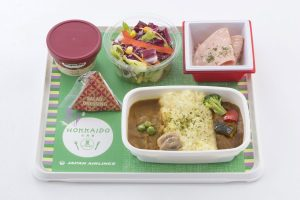 JAL new Hokkaido Economy Meals Omelette Rice, Two Flavor Curry and Rice, to be served in early June