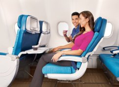6558 Rae Huo photo for Hawaiian Airlines 10/13 Couple in seats