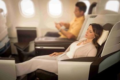 1B2A0585 Rae Huo photo 5/16. Buyout. Hawaiian Airlines Lie Flat, Passenger Couple relaxing