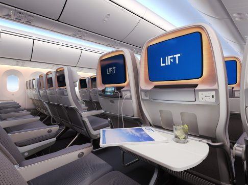 Boeing 787 Seating dining view by LIFT