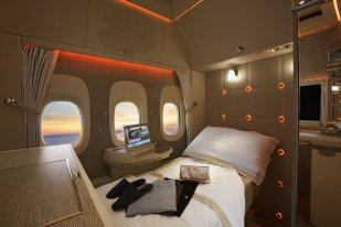 Emirates First Class with Virtual Windows 777