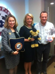 Deborah Lee James with Bonnie Carroll (right) and John Wood (left) of TAPS. Photo courtesy of TAPS.