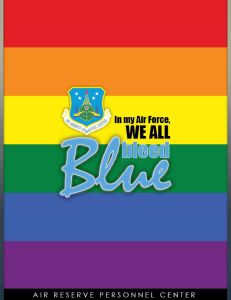 The Air Reserve Personnel Center's official poster celebrating Pride Month. (U.S. Air Force illustration/Master Sgt. Christian Michael)